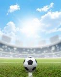 Stadium Soccer Pitch And Ball Stock Photos