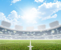Stadium And Soccer Pitch Royalty Free Stock Photography