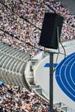 Stadium Speaker. A huge speaker setup in a stadium Royalty Free Stock Photos