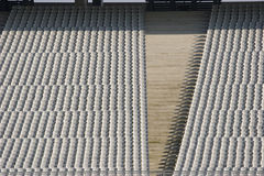 Stadium spectator seating Stock Photo