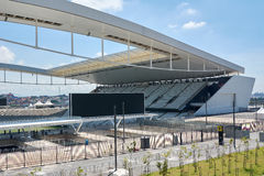 Stadium of Sport Club Corinthians Paulista in Sao Paulo, Brazil Royalty Free Stock Photos