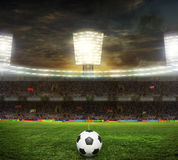 Stadium for sports and concerts empty on a sunny day Stock Image