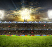 Stadium for sports and concerts empty on a sunny day Royalty Free Stock Photography