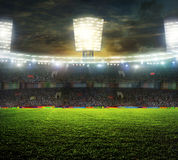 Stadium for sports and concerts empty on a sunny day Royalty Free Stock Image
