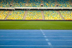 Stadium for sports and concerts empty on a sunny day. royalty free stock images