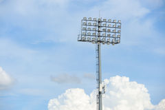 Stadium spot light Royalty Free Stock Image