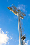 Stadium spot light post in the sunshine day Stock Images