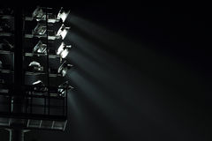 The Stadium Spot-light tower Stock Image