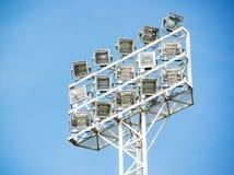 Stadium spotlight Stock Photo
