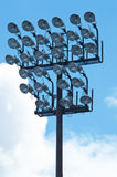 Stadium spotlights Royalty Free Stock Photos