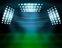Football Stadium Lighting Composition royalty free illustration