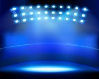 Stadium spotlights. Vector illustration. Stock Photo