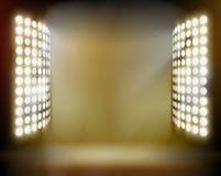 Stadium spotlights. Vector illustration. Royalty Free Stock Photography