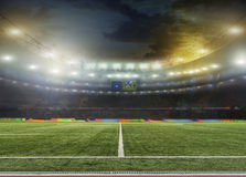 Stadium. stadium with fans Royalty Free Stock Image