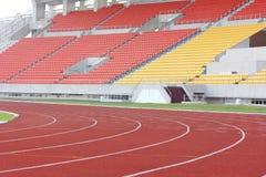 Stadium stand and running track Stock Photo