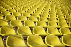 Stadium stands. Panoramic view of stadium stands with seats for spectators Royalty Free Stock Photo