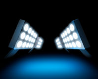 Stadium style lights Stock Photos