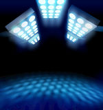 Stadium style premiere lights Royalty Free Stock Photos