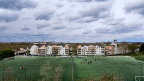 Stadium of the Parisian suburbs Royalty Free Stock Photography
