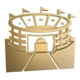 Stadium symbol. Golden stadium symbol Stock Images