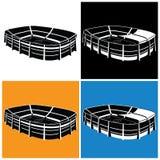 Stadium symbol Royalty Free Stock Photography