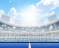 Stadium And Tennis Court Royalty Free Stock Photo