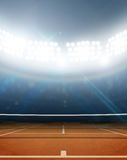 Stadium And Tennis Court Royalty Free Stock Image
