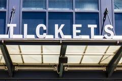 Stadium Ticket Booth Window Sign I Stock Photos