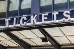 Stadium Ticket Booth Window Sign II Stock Photos