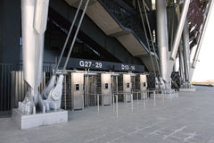 Stadium ticket check point Royalty Free Stock Images