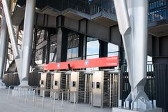 Stadium ticket check point Stock Images