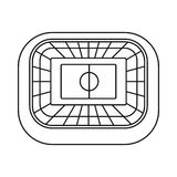 Stadium top view icon, outline style. Stadium top view icon in outline style on a white background vector illustration Royalty Free Stock Image