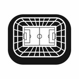 Stadium top view icon, simple style. Stadium top view icon in simple style on a white background vector illustration Royalty Free Stock Images