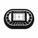 Stadium top view icon, simple style. Stadium top view icon in simple style on a white background vector illustration Stock Photography