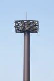 Stadium tower lights. And nice blue sky Stock Photo