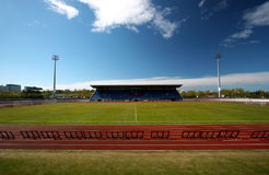 Stadium and track. Empty stadium and track (Laugardalsvollur, Iceland Royalty Free Stock Photos