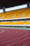 Stadium track. Competitive sports stadium starting line the runway Stock Images