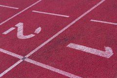 Stadium tracks, first or second, win or lose Stock Photos