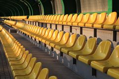 Stadium tribunes Royalty Free Stock Image