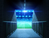 Stadium tunnel. The imaginary arena tunnel is modelled and rendered Royalty Free Stock Images