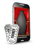 Stadium und Karten des Smartphone 3d lizenzfreie abbildung