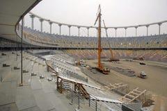 Stadium under construction Stock Images