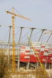 Stadium Under Construction Stock Photo