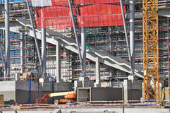 Stadium under construction Stock Image