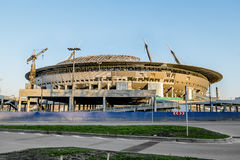The stadium under construction on Krestovsky island in St. Pete Royalty Free Stock Images