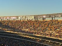 Stadium united states. Estadium full people tribune goal public peru colombia Stock Image