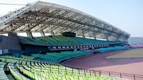 Stadium. By the use of nature can be divided into the competition hall and training hall, gymnasium and sports mostly doubles rallies, theatrical performances Stock Image