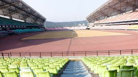 Stadium. By the use of nature can be divided into the competition hall and training hall, gymnasium and sports mostly doubles rallies, theatrical performances Stock Photography
