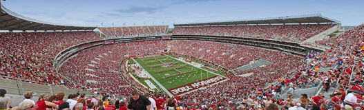 Stadium view Bama spellout Royalty Free Stock Photography