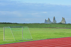 Stadium of Vik city, Iceland Stock Images